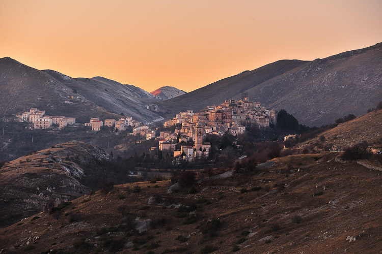Santo Stefano di Sessanio at sunset