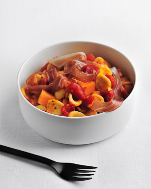 Orecchiette with Proscuitto and Melon - recipe by Grace Parisi