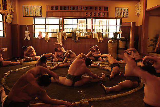 Sumo Beya Morning Practice Tokyo