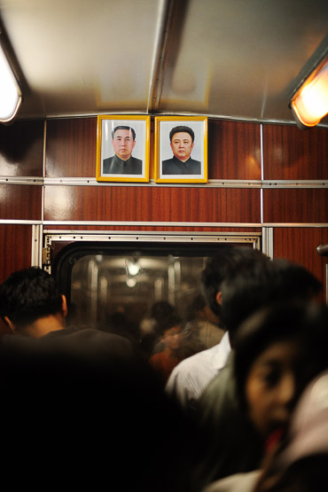 Subway ride in Pyongyang