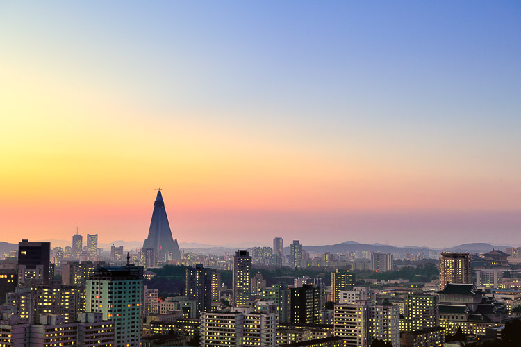 Pyongyang at sunset