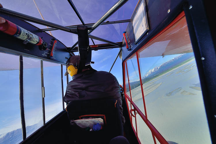 Paul flying his Super Cub - Ultima Thule Lodge - Alaska