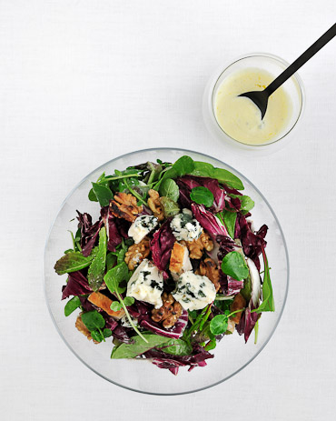 Chicken Salad with Walnuts and Roquefort Dressing - recipe by Grace Parisi