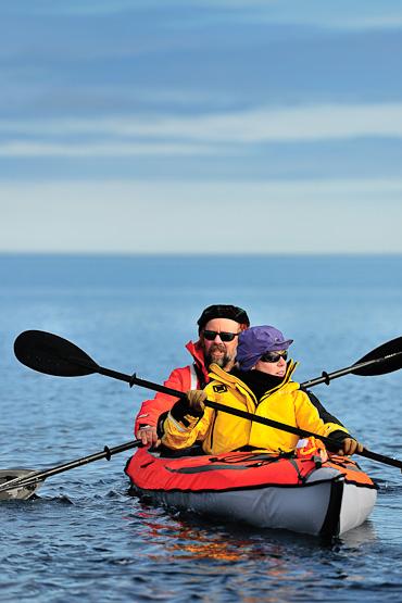 Kayaking at Nunavut Arctic Kingdom