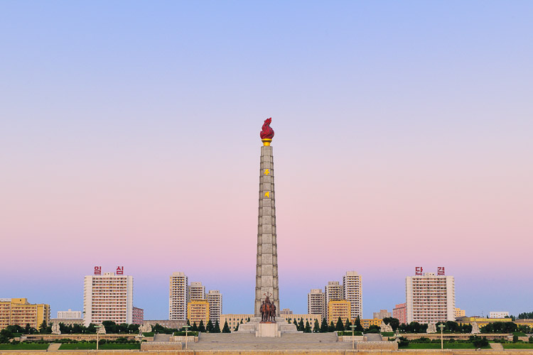 Pyongyang, capital of the Democratic People's Republic of Korea