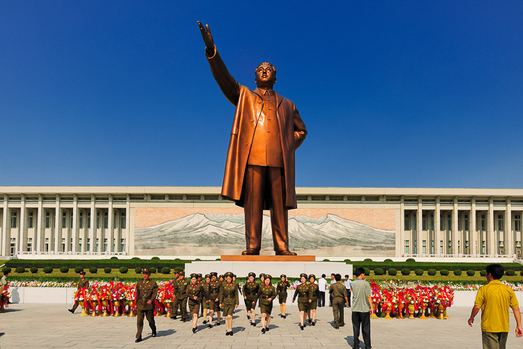 at Mansudae Grand Monument statue, North Korea