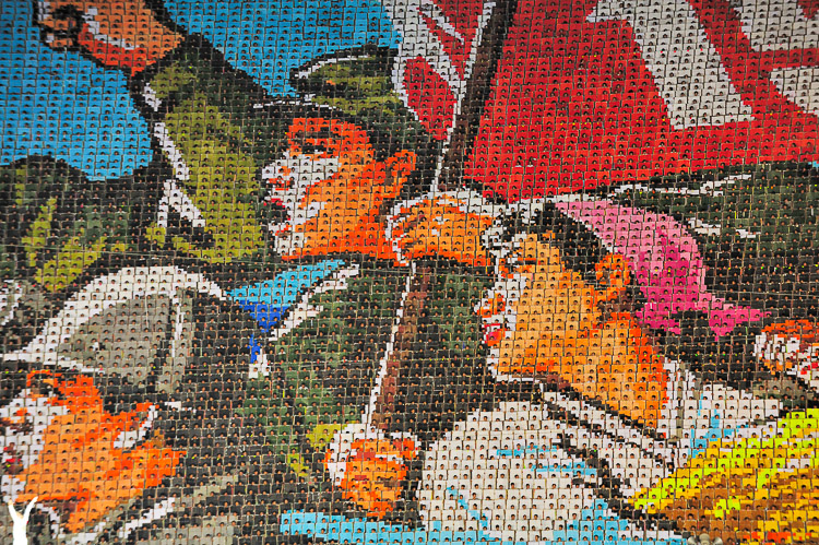 Arirang Massgames North Korea - huge mosaic pictures created by more than 20,000 people