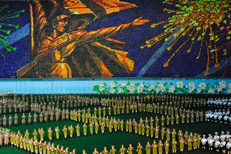 Arirang - Mass Games, a spectacle with around 100.000 people performing